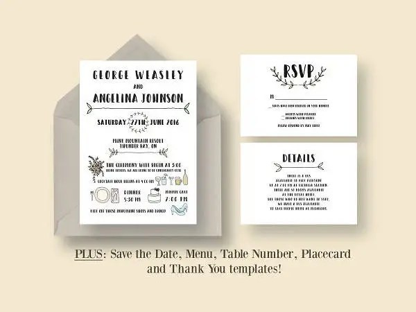 Rustic And Lace Wedding Invitations