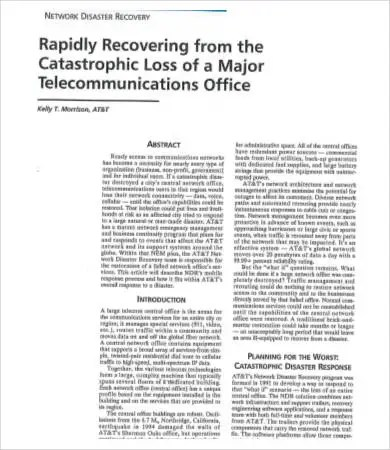 Disaster Recovery Plan Example  9+ Free Word, Pdf