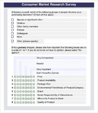 9 Sample Survey Questionnaires Free Sample Example Format