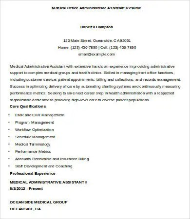 Medical Office Assistant Resume Sample Office Assistant Resume   Resume  Samples For Office Assistant  Medical Office Assistant Resume