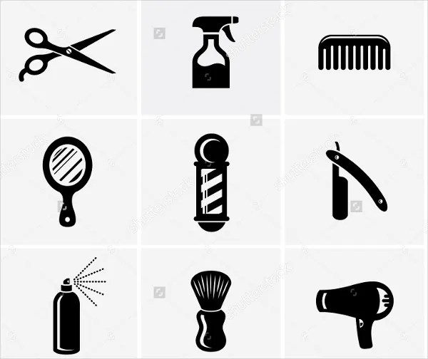 7 Hair Salon Icons  Free Sample Example Format  Free