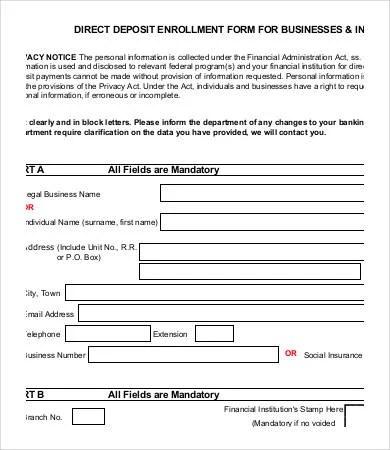 deposit forms template - Kleo.beachfix.co
