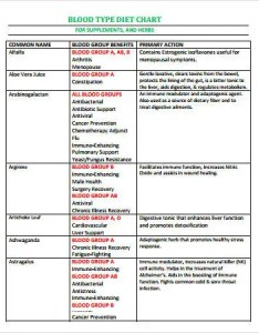 Blood type diet chart also types free pdf download documents  premium rh template