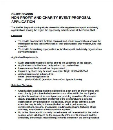 10 Printable Event Proposal Templates Word PDF Pages