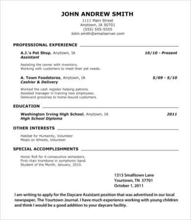 10 High School Graduate Resume Templates PDF DOC