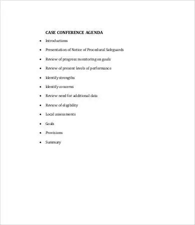 Conference Agenda Template 9 Free Word PDF Documents