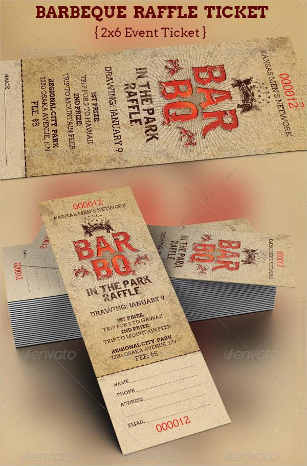 blank raffle tickets template