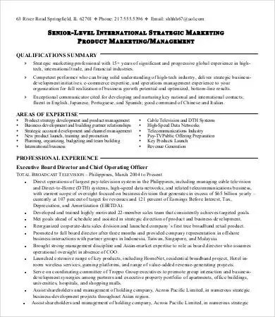 10 Printable Product Manager Resume Templates  PDF DOC