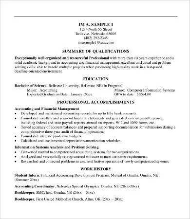 Professional Summary Resume Professional Summary Resume Example