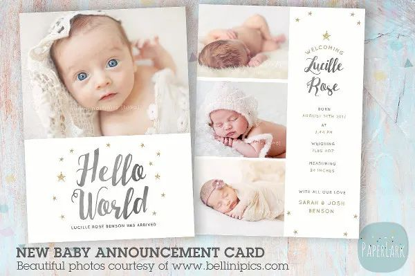 birth announcement sample