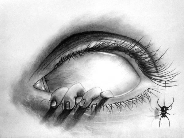 8 scary drawings art