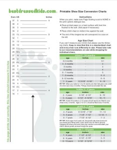 Printable newborn shoe size chart also free pdf documents download rh template