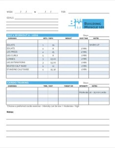 Daily workout chart template also templates free word excel pdf documents rh