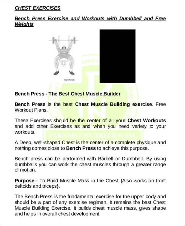 Workout Chart Templates - 8+ Free Word, Excel, PDF Documents ...