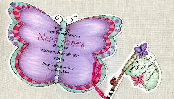 8 butterfly invitations free