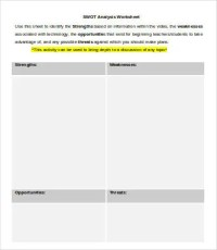 Swot Analysis Template Word - 13+ Free Word, PDF Documents ...