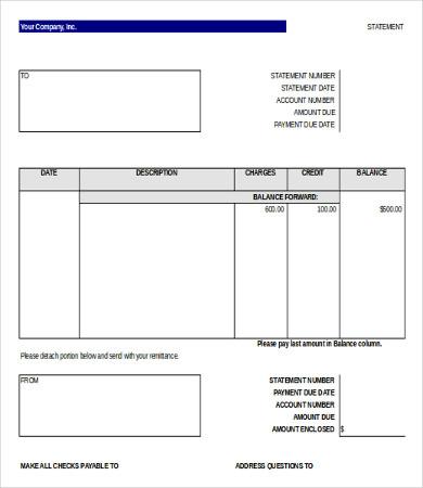 create a bank statement free