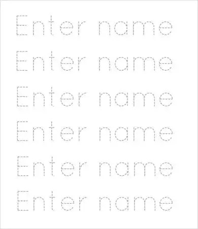 Free traceable name templates