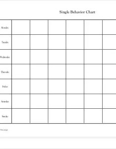Free single behavior chart also charts pdf psd documents download rh template