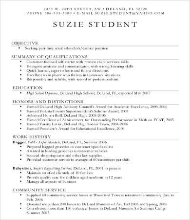10 Sample Retail Resume Templates PDF DOC Free
