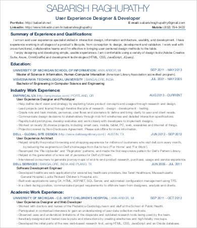 Ux Designer Resume 8 Free Word PDF Documents Download