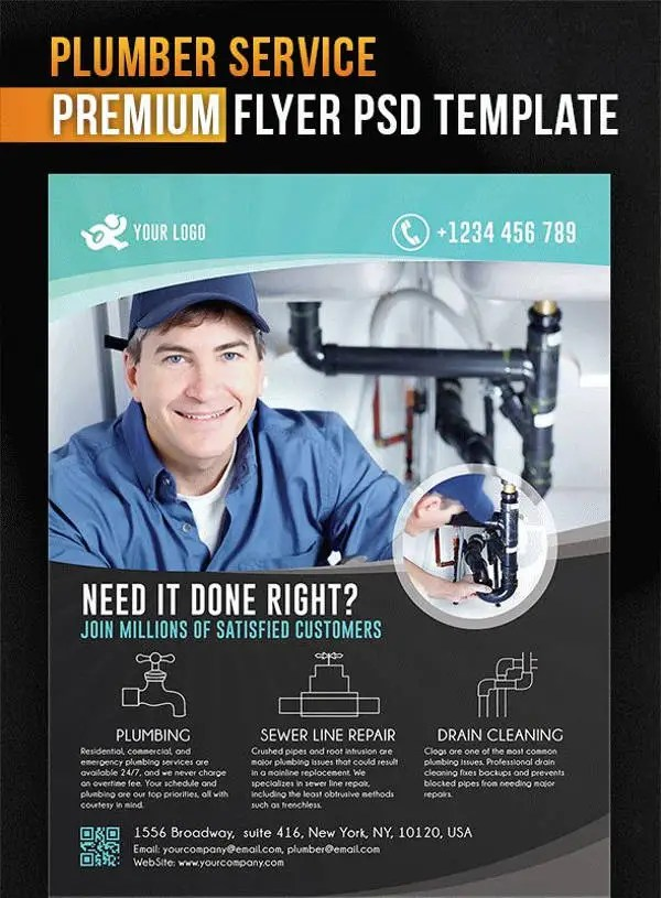 13 Beautiful Plumber Flyers Word PSD AI Free Amp Premium Templates