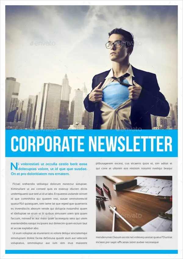 8 Corporate Newsletter Templates Printable PSD AI
