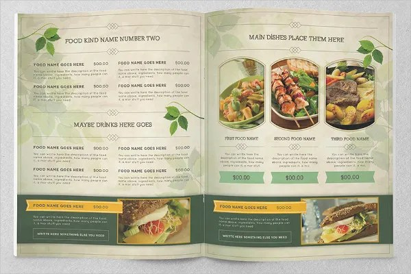 Food Brochure Template  10 Free PSD Word Vector AI EPS Format Download  Free  Premium