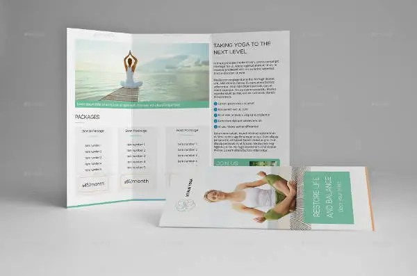 12 Yoga Brochures  PSD AI InDesign Vector EPS  Free