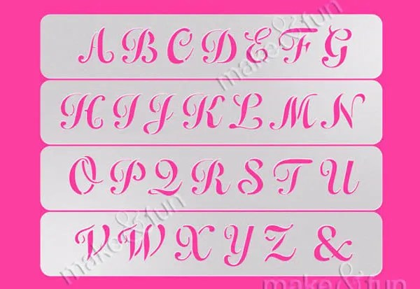 9 Printable Letter Stencils Free Sample Example