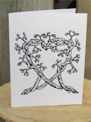 heart drawing card drawings cards broken vine templates greeting