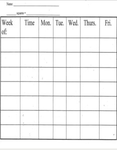 Printable weekly behavior chart also template free word pdf format rh