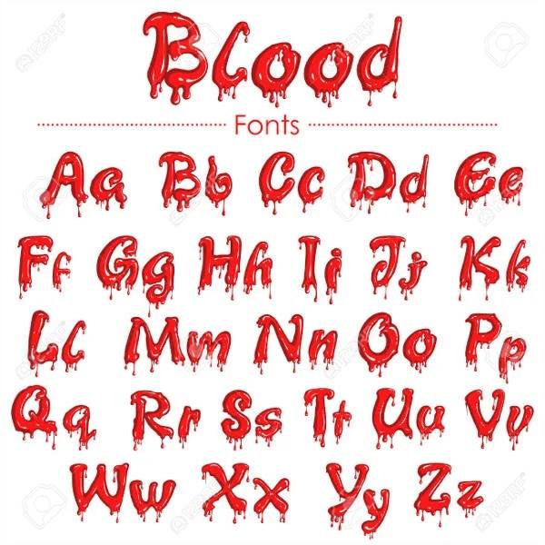 9 Blood Fonts