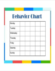 Free printable behavior chart for kids also pdf documents download rh template