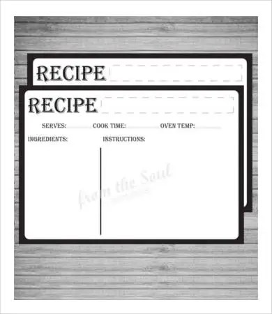 Recipe Card Template - 10+ Free PDF Download | Free & Premium Templates