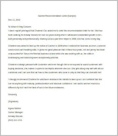 Letter Of Recommendation For A Job 8Free Sample Example Format Free Amp Premium Templates