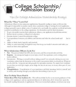 college application example essays