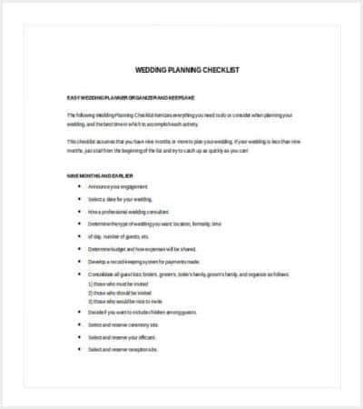 37+ Checklist Templates   Free & Premium Templates