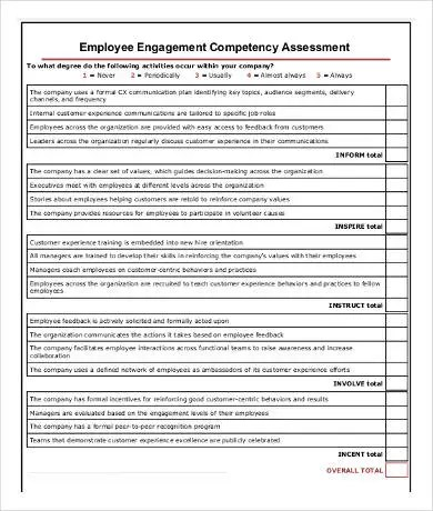 Employees Assessment Forms Ideal Vistalist Co