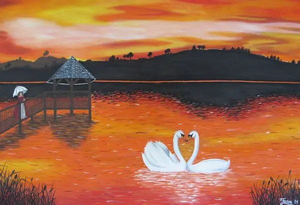 Abstract Fish Acrylic Ideas Painting