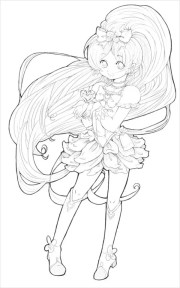7 anime coloring pages - pdf
