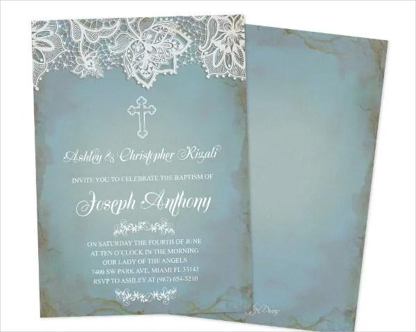 Invitations Baptism Boy