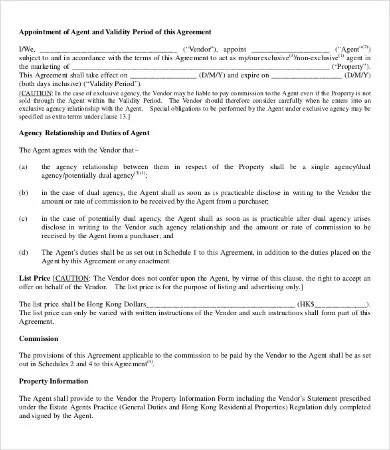18+ Printable Agent Agreement Templates - Word, PDF, Pages