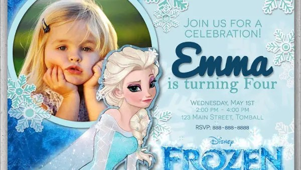 13 frozen invitation templates word