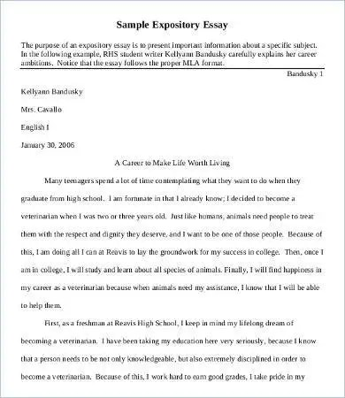 Examples Of A Expository Essay Hospi Noiseworks Co