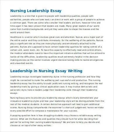 nursing leadership essays co nursing leadership essays