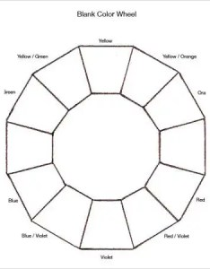 Blank color wheel chart also charts free pdf documents download  premium rh template