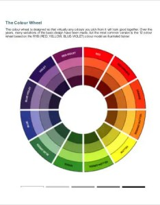 Color wheel schemes chart also charts free pdf documents download  premium rh template