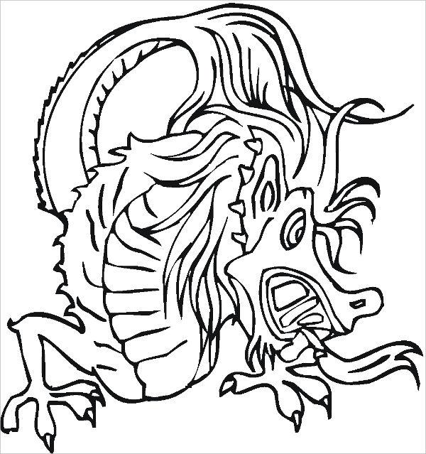 9 Dragon Coloring Pages Free Pdf Format Download Free Premium Templates
