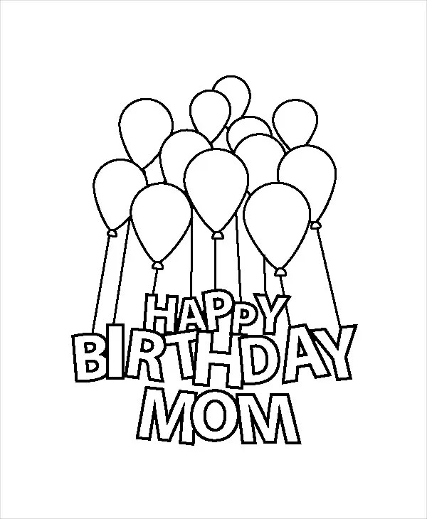 9 Happy Birthday Coloring Pages Free Psd Jpg Gif Format Download Free Premium Templates
